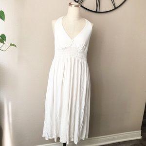 James Perse white halter dress